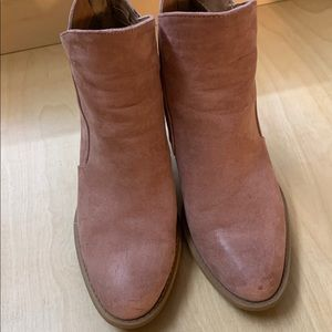 Dusty pink booties